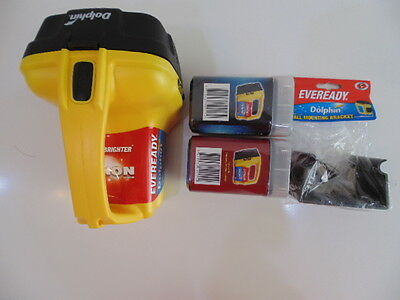 Eveready Dolphin Lantern and Batteries with Dolphin mounting Bra - Clearance MIX