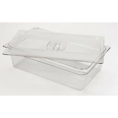 Rubbermaid Commercial Products FG134P00CLR Cold Food Pan Cover Full Size (Pack o