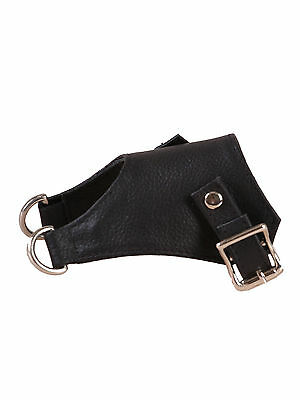 Tied N Teased Men's BDSM Sheath with Rings to Attach Weights Leather Black