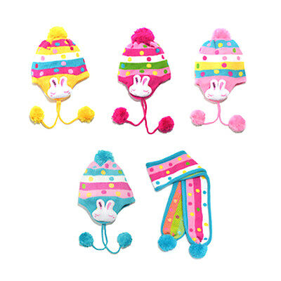 New Warm Winter Cap Scarf for Cute Boys Girls Baby Kids Toddler Wool Hats Set
