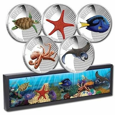 Australian Sea Life II The Reef Complete Silver Proof Coin Series by Perth Mint