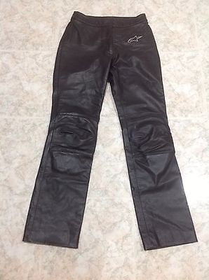 Alpinestars Leather Motorcycle Pants Size Usa 8, Euro 44 In Excellent Condition