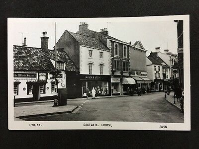 RP Vintage Postcard - Lincs. #C8 - Eastgate, Louth - Friths - White Swanne
