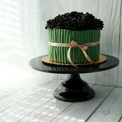 12 Inch Black   Iron Metal Cake Stand  For Wedding, Birthday Parties