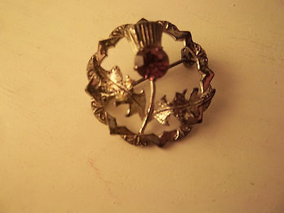 thistle Scottish pin brooch sterling silver ??