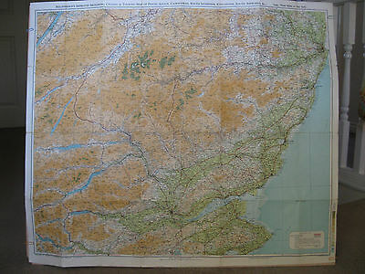 VINTAGE Macphersons's Touring Map of Perth Angus Cairngorms