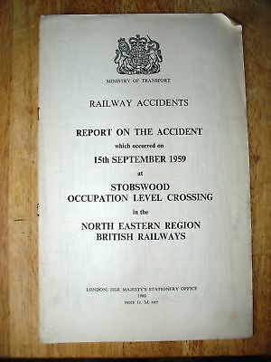 Railway Accident Report, Stobswood Occupation Level Crossing 1959