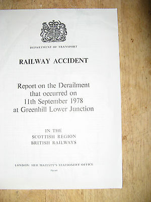 Railway Accident Report, Greenhill Lower Junction 1978