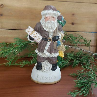 St. Nicholas Santa Claus Figurine Mexico Brown Suit