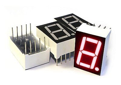 microtivity IS112 7-segment LED Display, 1 Digit Red Common Anode Pack of 4