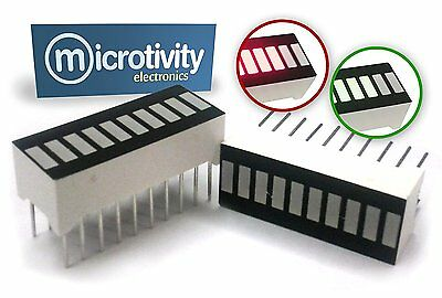 microtivity IS608 10-Segment LED Display 1 Red and 1 Green