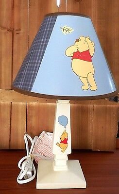 Winnie the Pooh Vintage Lamp White Base with Lamp Shade