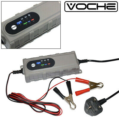 Voche 4Amp 6V 12V Intelligent Auto Car Bike Smart Battery Charger Microprocessor