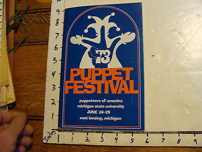 1973 Puppeteers of America Festival Program: MICHIGAN w/tons of autographs!