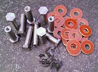 Border Tattoo Machine Coil Cores 10X 32Mm M4 Thread 1018 Steel + Washers & Clips