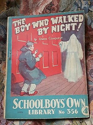 """Frank richards """" The boy who walked by night """" schoolboys own library number 356"""