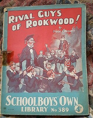 """Frank richards """" rival guys of rookwood """" schoolboys own library number 389"""