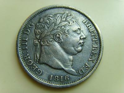 1816 Shilling King George Iii British Coin Great Britain