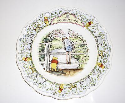 """Royal Doulton """"Poohsticks"""" Winnie The Pooh Collection Collector's Plate."""