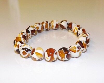 Baltic Amber Baby Bracelet Mosaic Perfectly Rounded Beads