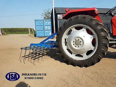 JSA 2.5m 8'2ft spring tine grass harrow Menage harrow, agricultural Equestrian