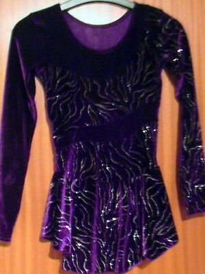 Mondor Girls Purple Ice-skating Dress Age 12/14  MO313