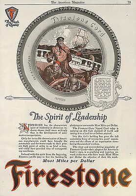 1923 Firestone Gum Dipped Cord Rubber Tire Tires Ad Advertisement