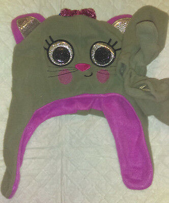 Infant Girls Cat Hat and Mittens Set Toddler Winter Warm