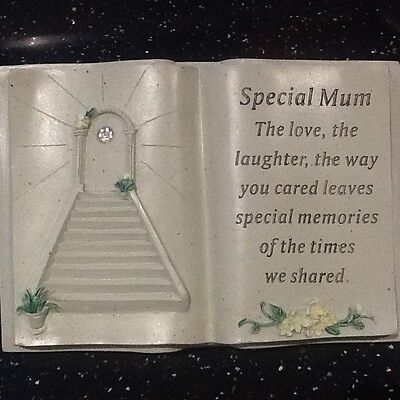 SPECAIL MUM Stairway to Heaven Graveside Memorial  Book Grave Ornament
