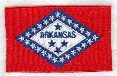"""Arkansas State Flag Embroidered Patch 3.3"""" x 2"""""""