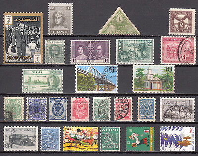 LOT 129. FIJI  and other COUNTRIES X 25 Different stamps