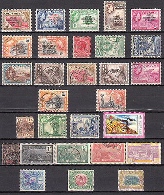 LOT 71. Gold Coast and 3 other COUNTRIES X29 Different.