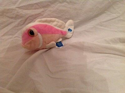 Seapals Finger Puppet - Pink Fish Soft Toy