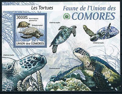 Bloc Sheet Tortues Turtles Neuf  MNH ** Comoros Comores 2009