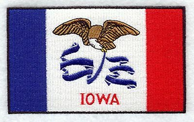 "Iowa State Flag Embroidered Patch 3.3"" x 2"""