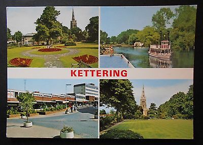 Postcard: Colour Multiview of Kettering, Northamptonshire (1980s?)