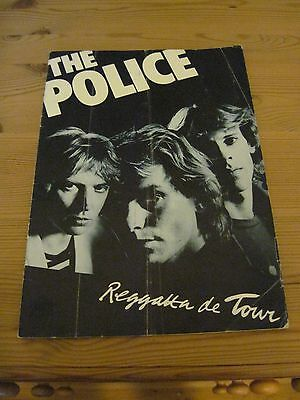 Gig programme - The Police - Birmingham Odeon late 1979
