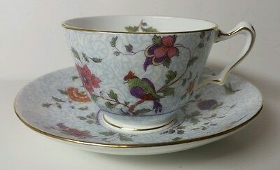 "Crown Staffordshire England ""bird Of Paradise"" Cup & Saucer Set(S) - Excellent"
