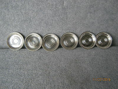 Sterling Silver Coaster's Set of 6  105.9 Grams of Silver