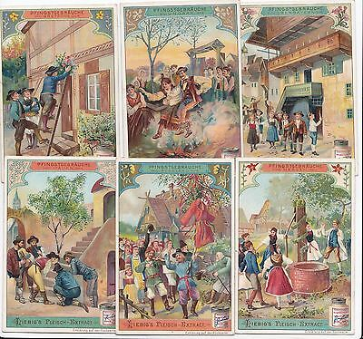 6 Liebig cards - costumes of Pentecost - san698ted iss in 1902