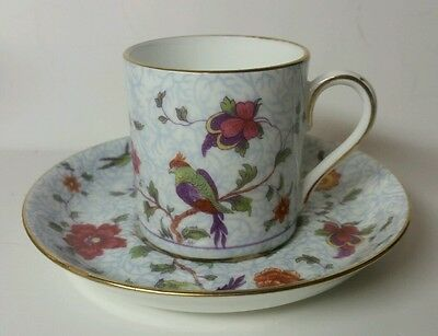 "Crown Staffordshire England ""bird Of Paradise"" Demitasse Cup & Saucer Set(S)"