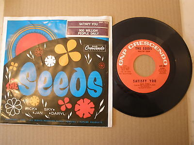 The Seeds - Satisfy You / 900 Million People Daily (1967) 45 Picture Sleeve