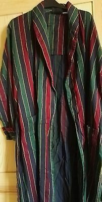 Classic Tootal Regency Vintage Men's striped Dressing Gown   smokers Medium
