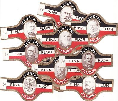 25 BIG cigar bands O Alemao The German Generals Of Wwi iss in 1958