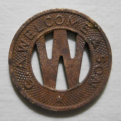 G. A. Welcome & Son (Schnectady, New York) transit token - NY830D