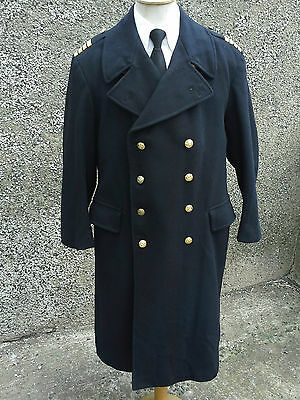 Navy Captains ~ Great Coat ~ Possibly Unworn ~ Immaculate Condition ~ Very Heavy