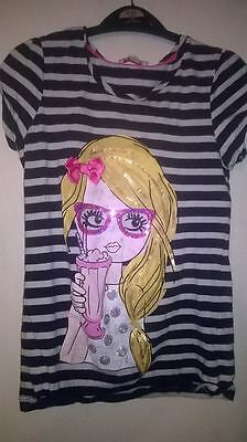 Girls Short Sleeve Top, Age 11-12, bluezoo brand.
