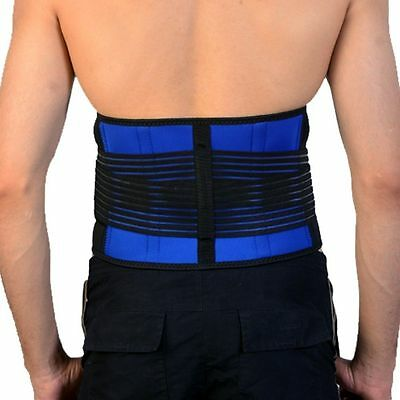 Quality Neoprene Double Pull Lumbar Support Lower Back Belt Brace Pain Relief