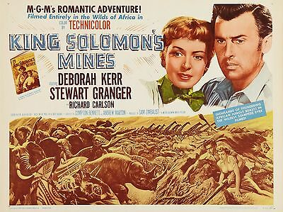 """King Solomons Mines 16"""" x 12"""" Reproduction Movie Poster Photograph"""