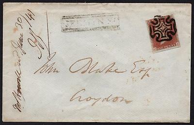 GB.1d red-brown, Pl.11, on cover to Croydon. Superb. Cat.£300